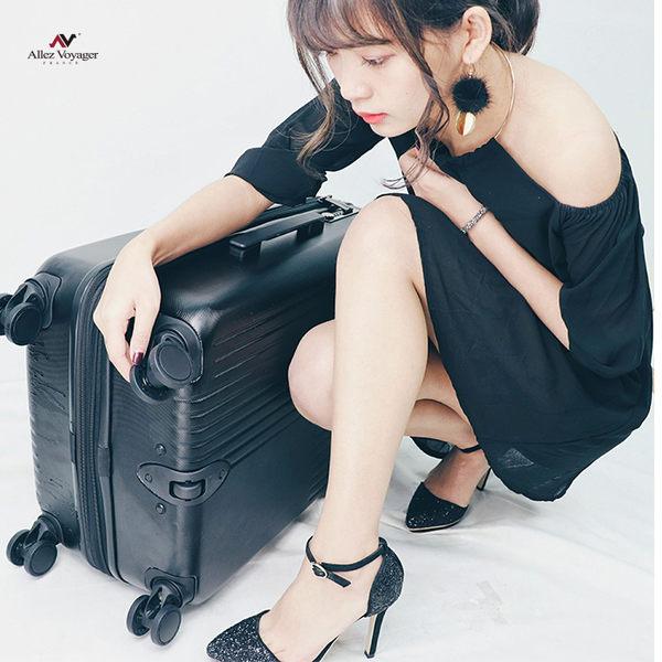 行李箱 旅行箱 法國奧莉薇閣 24吋 德國PC硬殼 無懈可擊 黑色
