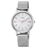 CITIZEN wicca施華洛世奇水晶太陽能米蘭帶腕錶KP5-115-11