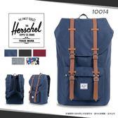 《熊熊先生》學院風Herschel素色休閒後背包帆布商務雙肩包LITTLE AMERICA學生書包15吋筆電包10014