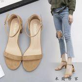 涼鞋女夏女鞋高跟鞋夏季中跟潮粗跟
