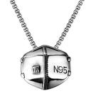 《QBOX 》FASHION 飾品【C21N1930】精緻個性街頭嘻哈N95口罩鑄造鈦鋼墬子項鍊/掛飾