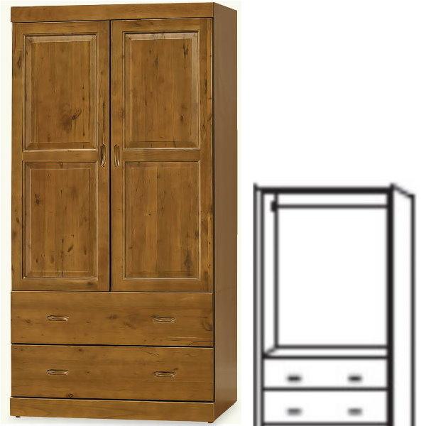 衣櫃 衣櫥 BT-82-4 玉桂實木3X6尺衣櫥【大眾家居舘】