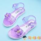 女孩涼鞋夏季水晶果凍女童沙灘防滑公主花朵兒童涼鞋【淘嘟嘟】