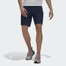 Adidas Th Short Wv Id [GU1746] 男 短褲 運動 健身 訓練 休閒 舒適 透氣 拉鍊口袋 藍