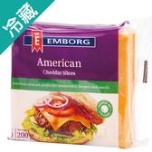 安博格 美國切達乾酪片200G/包【愛買冷藏】