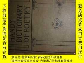 二手書博民逛書店HANDY罕見DICTIONARY OF POETICAL QU