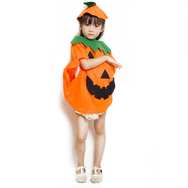 小朋友萬聖節 化妝舞會服裝 南瓜造型服 (大人+小孩)