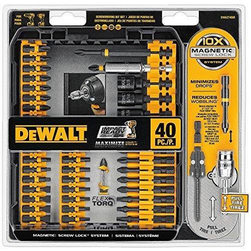 【美國代購】DEWALT DWA2T40IR IMPACT READY FlexTorq螺絲驅動套件 40件