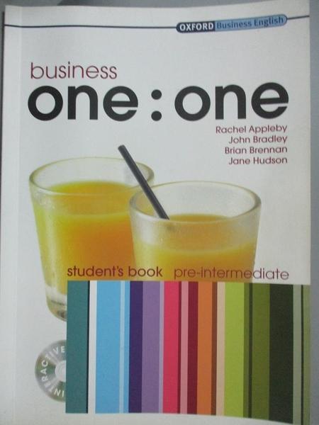 【書寶二手書T7/原文書_YBU】Business One:One: Pre-Intermediate, Student