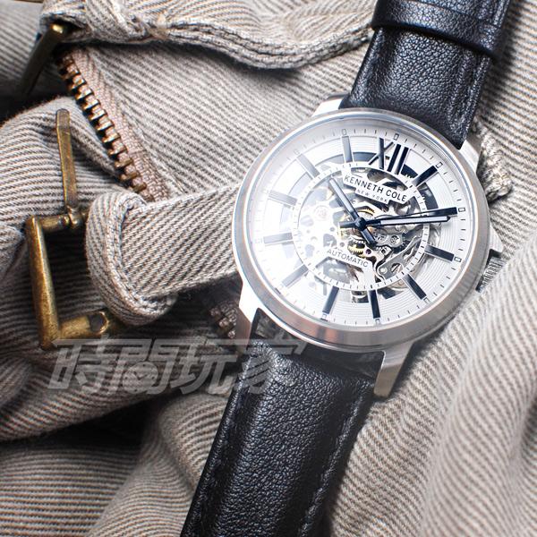 Kenneth Cole 羅馬時刻 雙面鏤空 腕錶 自動上鍊機械錶 男錶 真皮錶帶 KC50779001