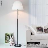 落地燈 現代簡約客廳臥室床頭燈歐式創意布藝裝飾遙控LED落地燈調光台燈【快速出貨八折鉅惠】