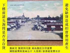 二手書博民逛書店民國明信片1張罕見美國加州Oceanside鎮街景老照片 美國印