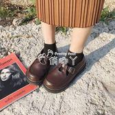 復古小皮鞋女百搭大頭娃娃學生韓版 俏腳丫