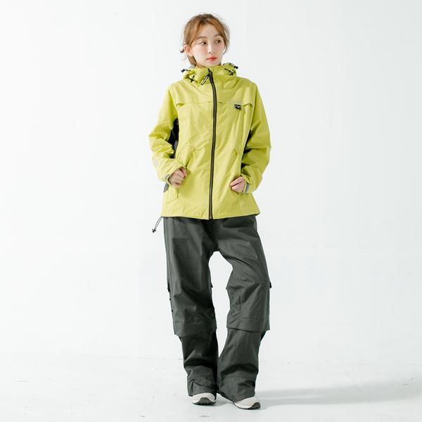 君邁雨衣,Aero9項專利透氣兩件式風雨衣,芥末黃