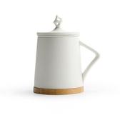 太湖石辦公室泡茶杯  白色