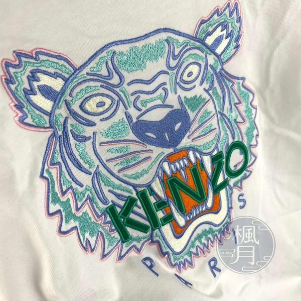 BRAND楓月 KENZO 水藍虎頭白長版T #M 棉T 短袖T恤 內搭 外穿 睡衣 LOGO刺繡 經典造型 100%棉