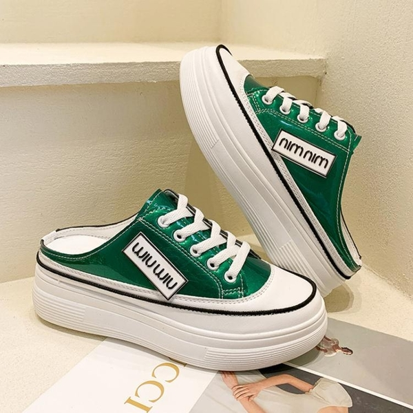 半拖鞋 2021年新款流行夏季韓版半拖外穿拖鞋鞋子坡跟厚底鬆糕內增高女鞋 小天使