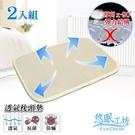 悠眠工坊 3D蜂巢立體透氣枕頭墊-二入組 43X63 厚度1CM 3D-MP03X2
