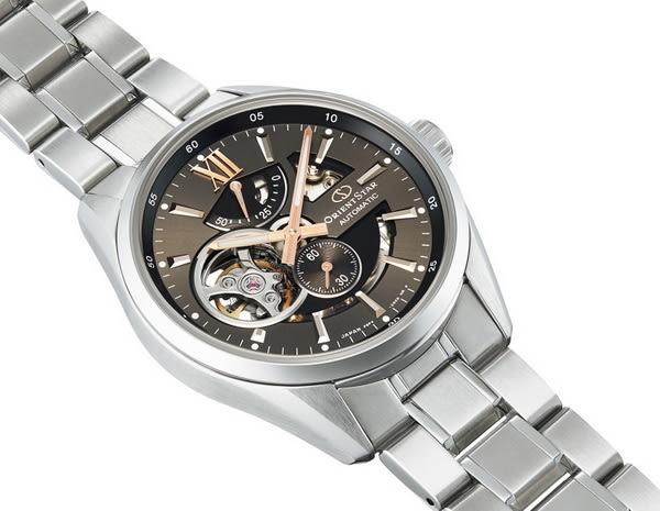 【台南 時代鐘錶 ORIENT STAR】東方之星 RE-AV0004N 動力儲存鏤空機械錶 鐵灰/銀 41mm