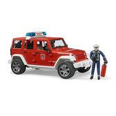 德國BRUDER 仿真大型車 1:16 Jeep 消防越野車