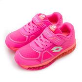 LIKA夢 LOTTO 彈力慢跑鞋 G-MAX QQ軟糖系列 螢粉橘 5833 中童
