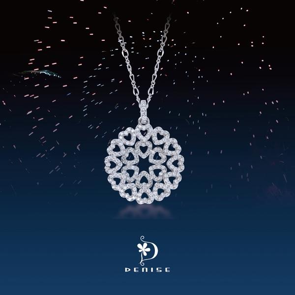 925純銀「愛閃亮」項墜 / 銀飾珠寶情人禮物 / 贈白鋼項鍊