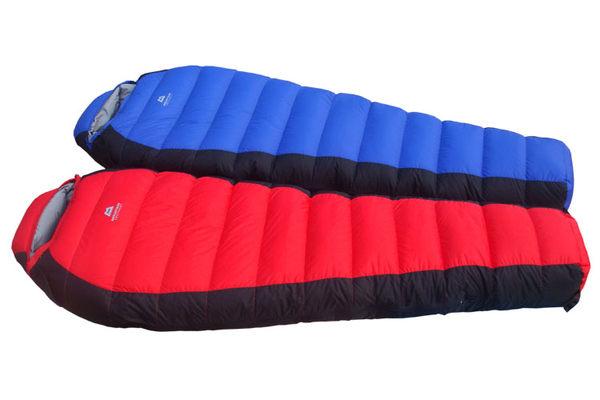 户外羽毛睡袋 木乃伊型 高山露營用品(附收納袋)冬天用