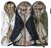 保暖防風加絨加厚兩穿S-3XL中大尺碼速賣通亞馬遜毛領連帽羊羔絨中長款棉衣T651.9001依品國際