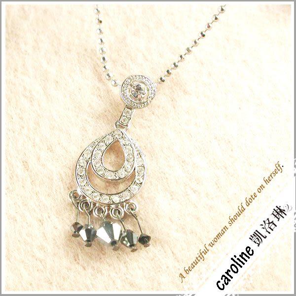 《Caroline》★韓國進口奧地利施華洛世奇水晶時尚項鍊20545