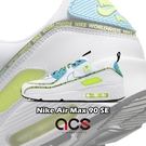 【六折特賣】Nike 休閒鞋 Air Max 90 SE Worldwide 白 藍 男鞋 女鞋 串標設計 氣墊 運動鞋【ACS】 CZ6419-100