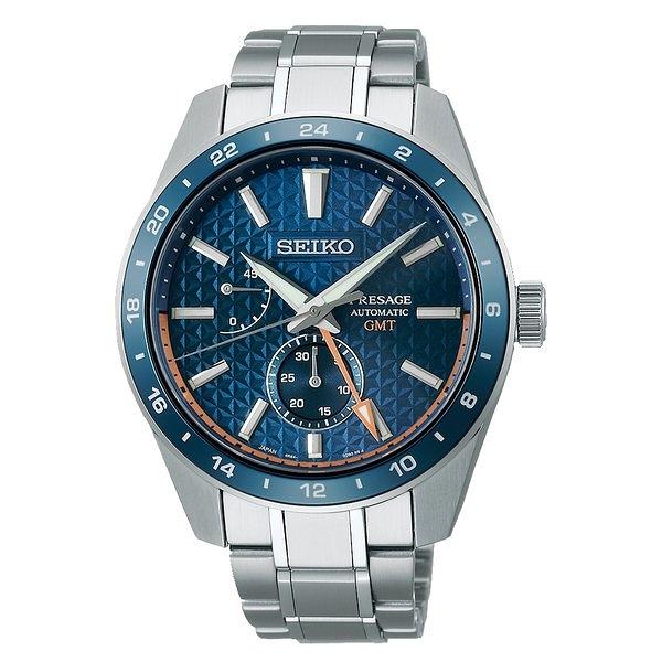 SEIKO精工 Sharp Edged Series 新銳系列動力顯示機械錶 6R64-00C0B (SPB217J1) 藍