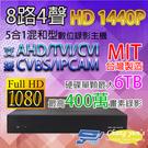 高雄/台南/屏東監視器 MASIAL小可取 8路4聲 400萬畫素 監視器主機 DVR 1440P 台灣製造
