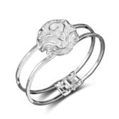 鍍銀手鐲 玫瑰歐美款式飾品【多多鞋包店】s332
