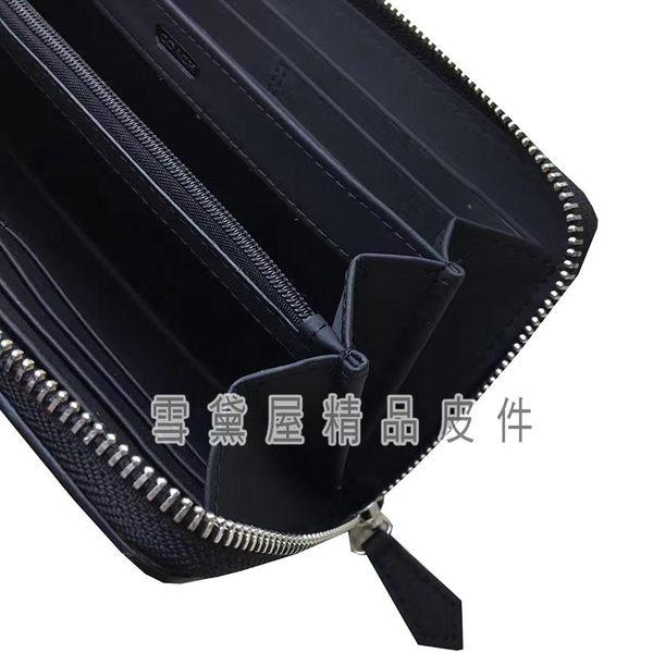 ~雪黛屋~COACH 長皮夾國際正版保證進口防水防刮皮革U型包覆拉鍊主袋品證購證盒塵套提袋C746361