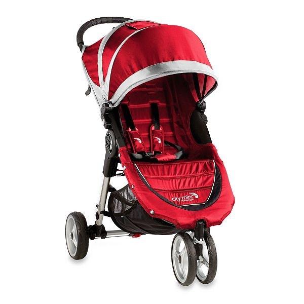美國 baby jogger City Mini Fold 單手秒收輕運動推車 紅灰色