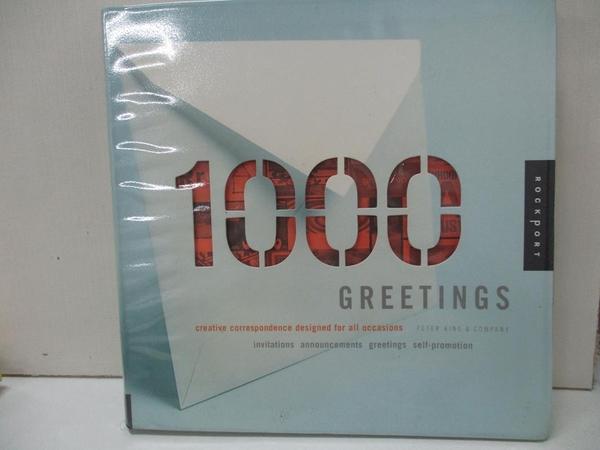 【書寶二手書T8/廣告_KO1】1,000 Greetings_King, Peter