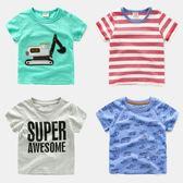 竹節棉男童短袖T恤右歐2018新款小童夏裝