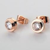 耳環 925純銀鑲鑽-精美有型情人節生日禮物女耳針2色73gt4【時尚巴黎】