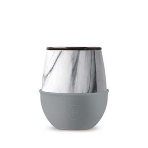 美國HYDY優雅蛋型杯 大理石紋x峽灣-240ml