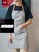 帆布時尚簡約防水印字餐廳工作室服務員圍裙品牌【邦邦男裝】