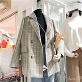 小西裝秋季格子小西裝女韓版英倫風寬鬆西服外套上衣休閒網紅小個子韓國 新年優惠
