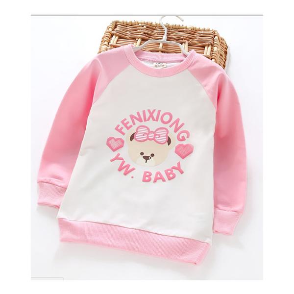 甜美 / 上衣 / 甜心熊雙色上衣 Baby Bundle
