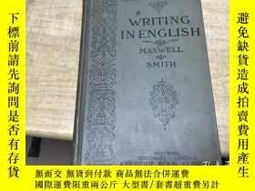 二手書博民逛書店writing罕見in english 1900年版本 稀見 保