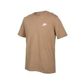 NIKE NSW Club Tee 男短袖T恤(純棉 休閒 慢跑 上衣 電繡LOGO ≡體院≡ AR4999-258