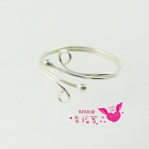 925純銀戒指│free size│★〔流線銀珠〕銀戒★│可愛浪漫│增添指尖魅力