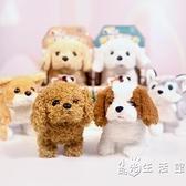 兒童玩具狗狗走路會叫嬰兒仿真電動毛絨電子小狗會動的寶寶寵物 小時光生活館