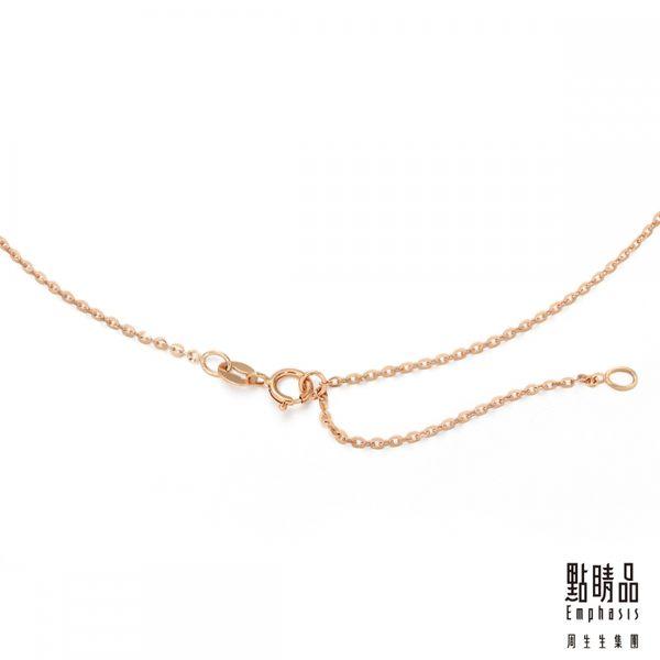 點睛品 PetChat 18K金鐵鋁榴石寶石松鼠鑽石項鍊