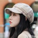 貝雷帽 八角帽子女網紅款秋冬季英倫復古韓版潮百搭報童蓓蕾貝雷帽女 智慧e家 新品