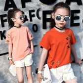 女童短袖童裝2019新款夏裝t恤兒童韓版繡花洋氣上衣百搭衫潮 FR9543『男人範』