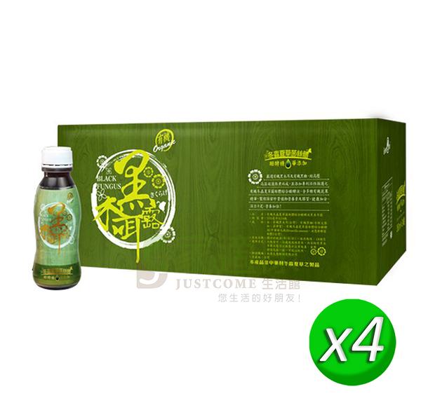 【大漢酵素】有機酵素冬蟲夏草菌絲體黑木耳露(350ml x24瓶) x4箱